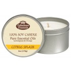 Citrus Splash 100% Pure & Natural Soy Candle 6 oz