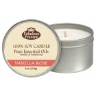 Vanilla Rose 100% Pure & Natural Soy Candle 6 oz
